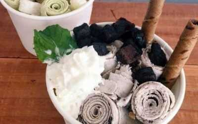 Rolled Ice Cream: scraping is literally cooler than scooping