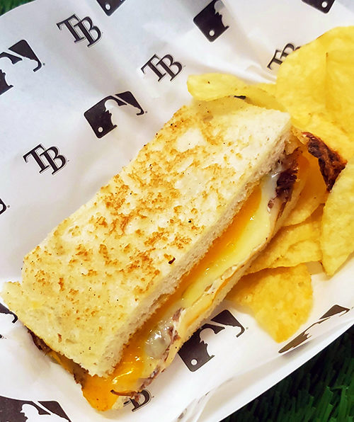 major league baseball mlb foods tampa bay rays braised rib grilled cheese