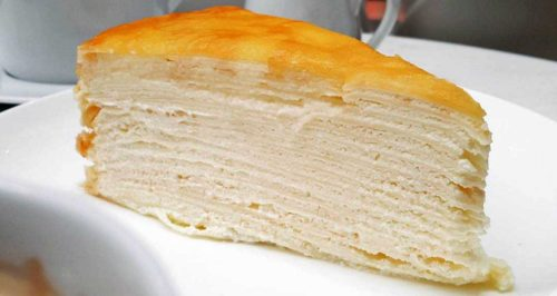 mille crepe cake layers of crepes
