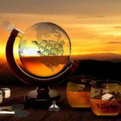 unique globe decanter foodie food lover gifts