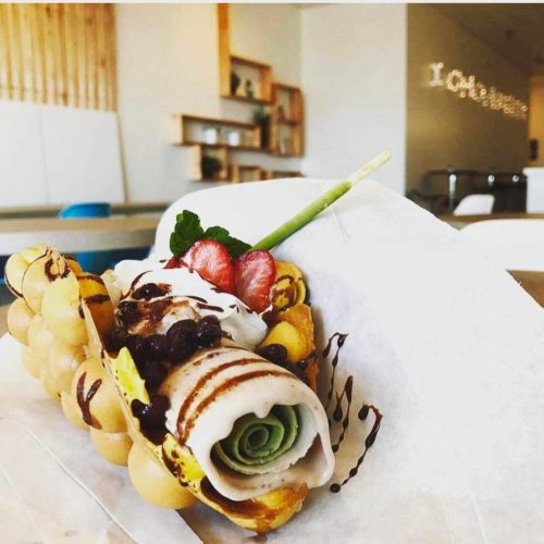 rolled ice cream egg waffle taco san diego california