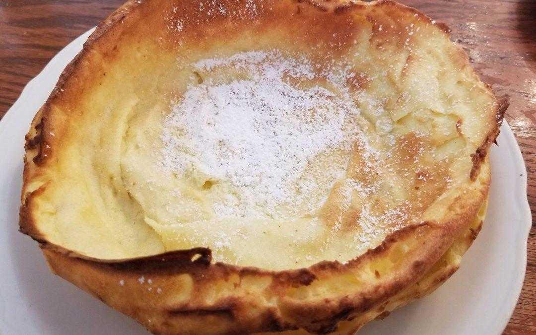 Dutch Baby: a biggie, not smalls puff d̶a̶d̶d̶y pancake