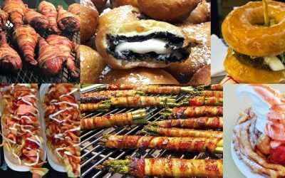 State and County Fair foods: bacon-wrapped, deep-fried everything