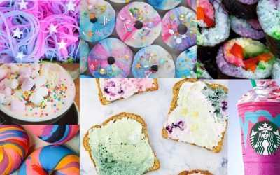 Unicorn food: see the rainbow, taste the rainbow