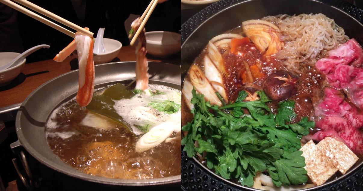 shabu shabu sukiyaki differences glutto digest