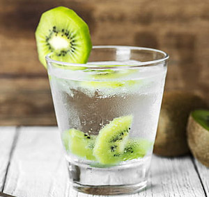 kiwi infused water with kiwi tropical fruit