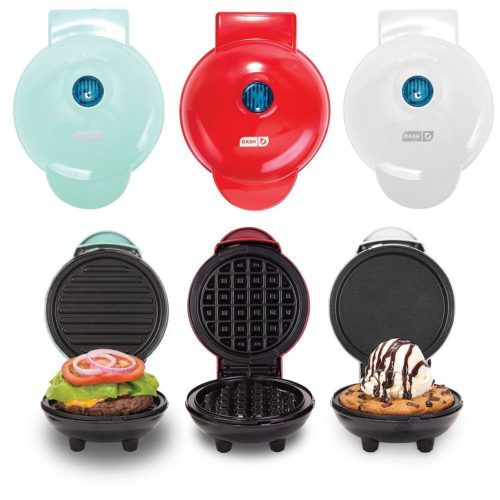 foodie food lover gifts Dash MINI Maker 3-Piece Griddle, Waffle, and Grill 3-piece Set