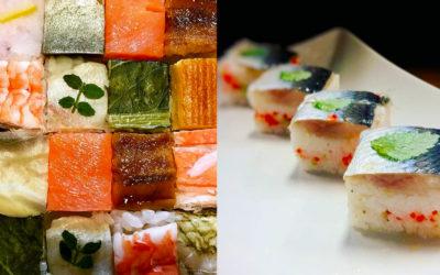 Oshizushi: sushi cubed not rolled