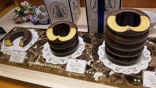 chocolate baukuchen tokyo german japanese spit cake tree ring cake