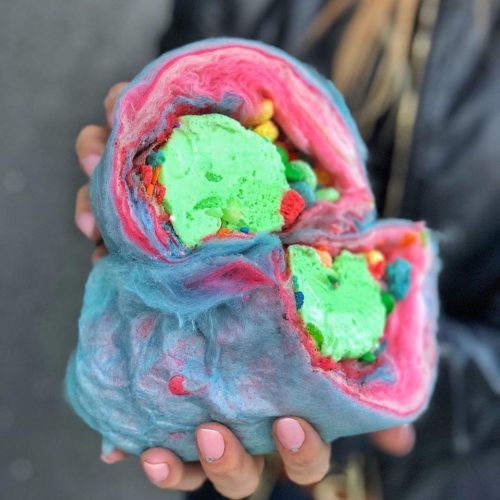 cotton candy ice cream burrito las vegas cream berry