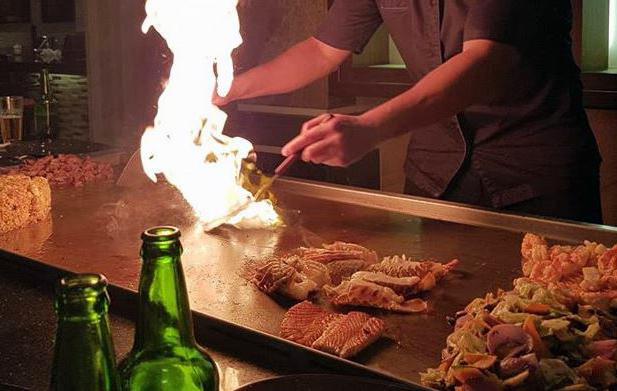 teppanyaki japanese bbq fire