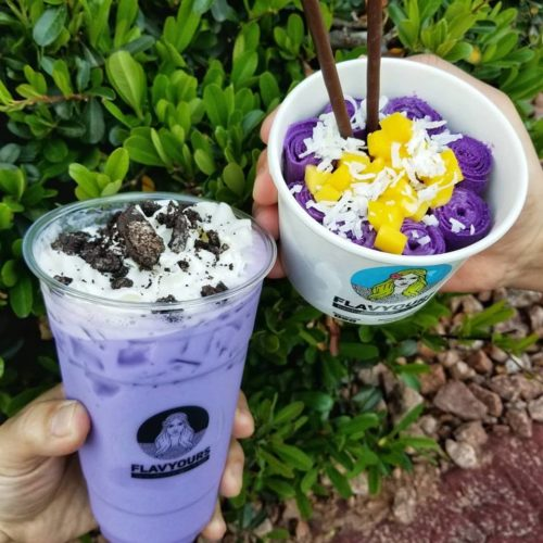 ube boba milk tea rolled ice cream las vegas nevada