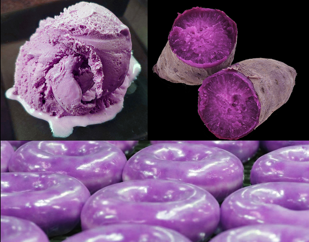 ube purple yams ice cream donuts
