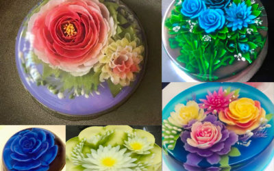 Gelatin Art: magical floating flowers you can eat