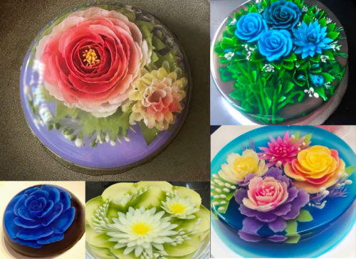 3d gelatin art and jello flowers cake including decoration tools, kits, supplies and recipes