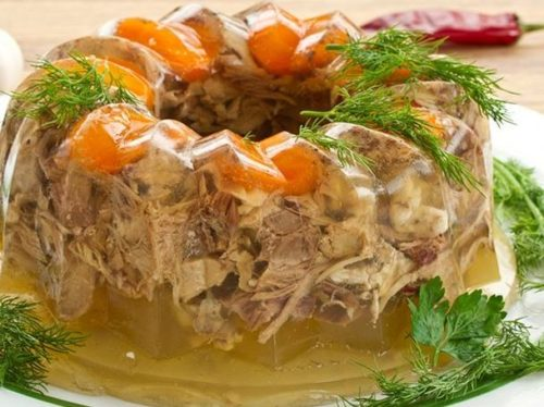 aspic savory gelatin jello salad