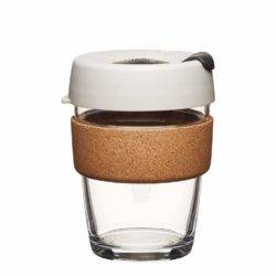 reusable glass coffee cup mug