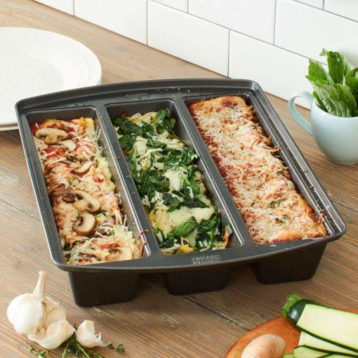 lasagna trio pan three recipes