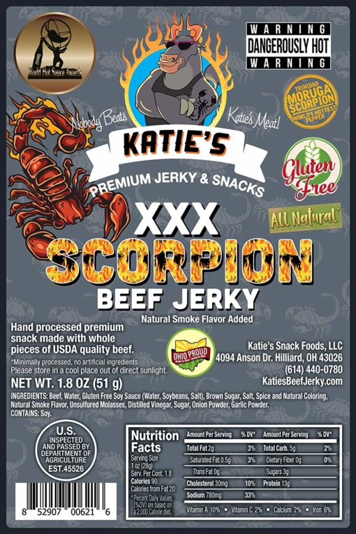 award-winning spicy beef jerky