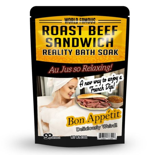 foodie food lover gifts roast beef bath salts