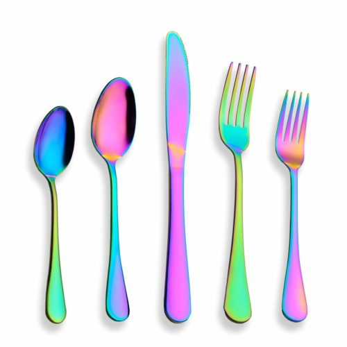 foodie food lover gifts rainbow silverware cutlery