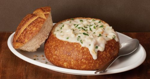 sf bay area foods clam chowder sourdough bread bowl