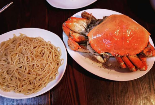 sf bay area foods roasted crab and garlic noodles