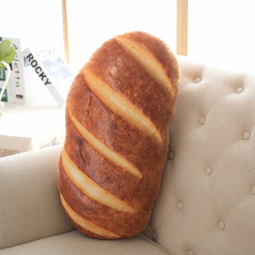 foodie food lover gifts soft plush bread pillow