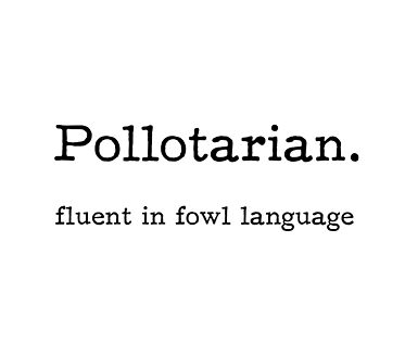 pollotarian fluent in fowl language