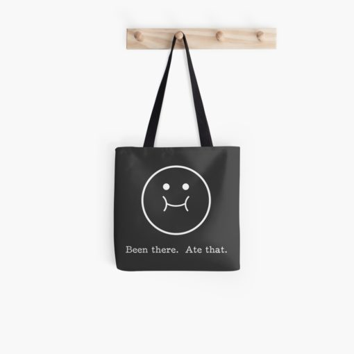 been there ate that tote bag - clear (copyrighted)