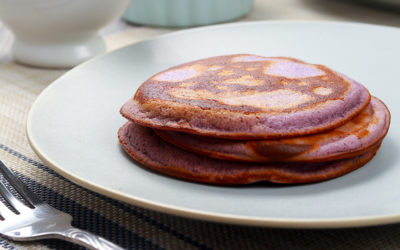 Ube Pancakes: flap these purple jacks