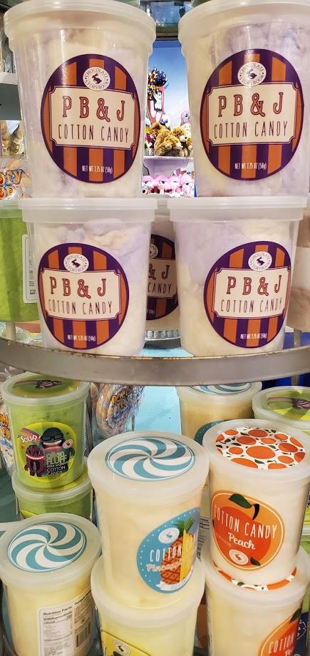 pb&j peach pineapple cotton candy flavors