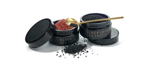 luxury black lava sea salt gift set