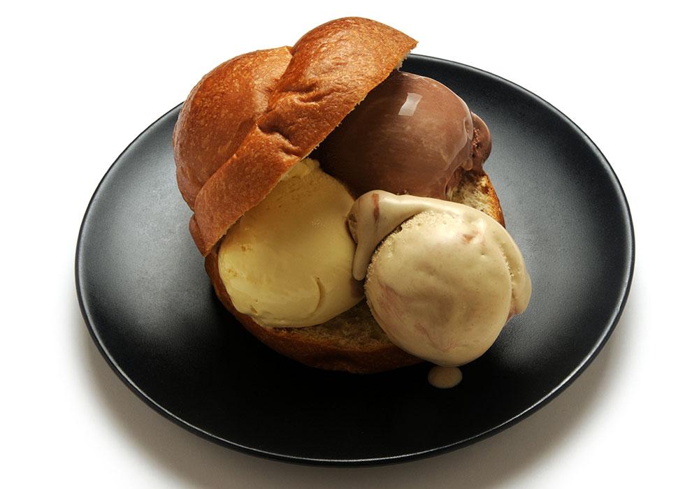 brioche gelato con tuppo