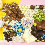 Easter charcuterie board food platter