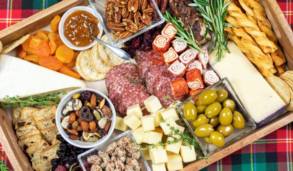 Christmas charcuterie board food platter