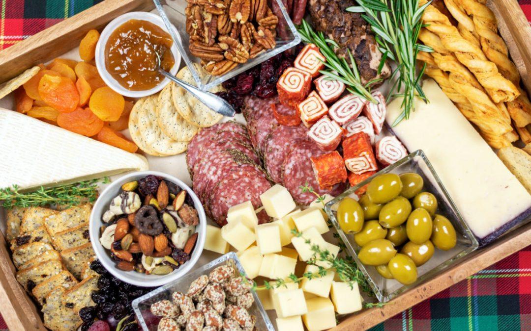 Christmas charcuterie board food platter