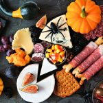 Halloween charcuterie board food platter meats