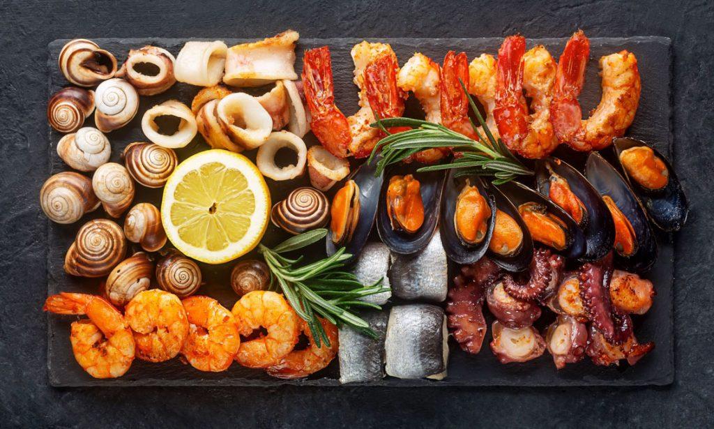 seacuterie seafood charcuterie board