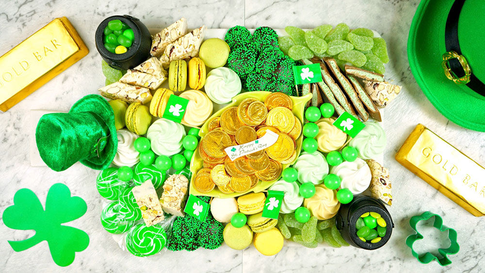 St. Patrick's Day charcuterie board platter