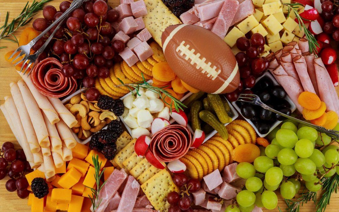 super bowl food charcuterie platter board