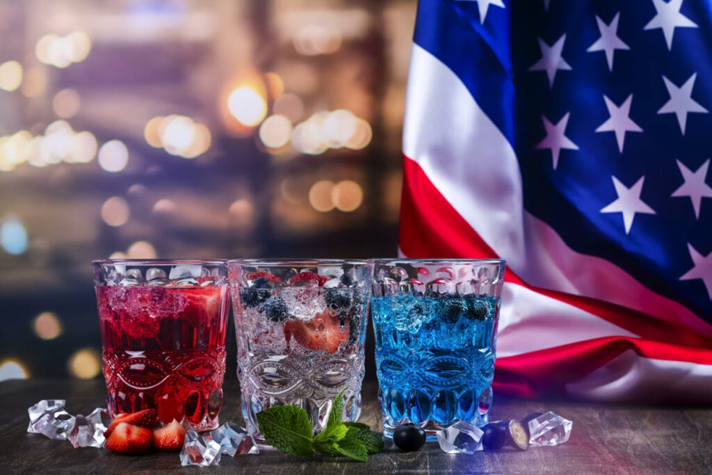 Fourth 4th of July Food drinks cocktails mocktails non-alcoholic