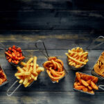 french fries types sweet potato crinkle wedges