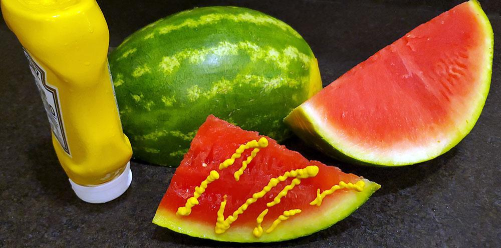 weird food combinations watermelon mustard